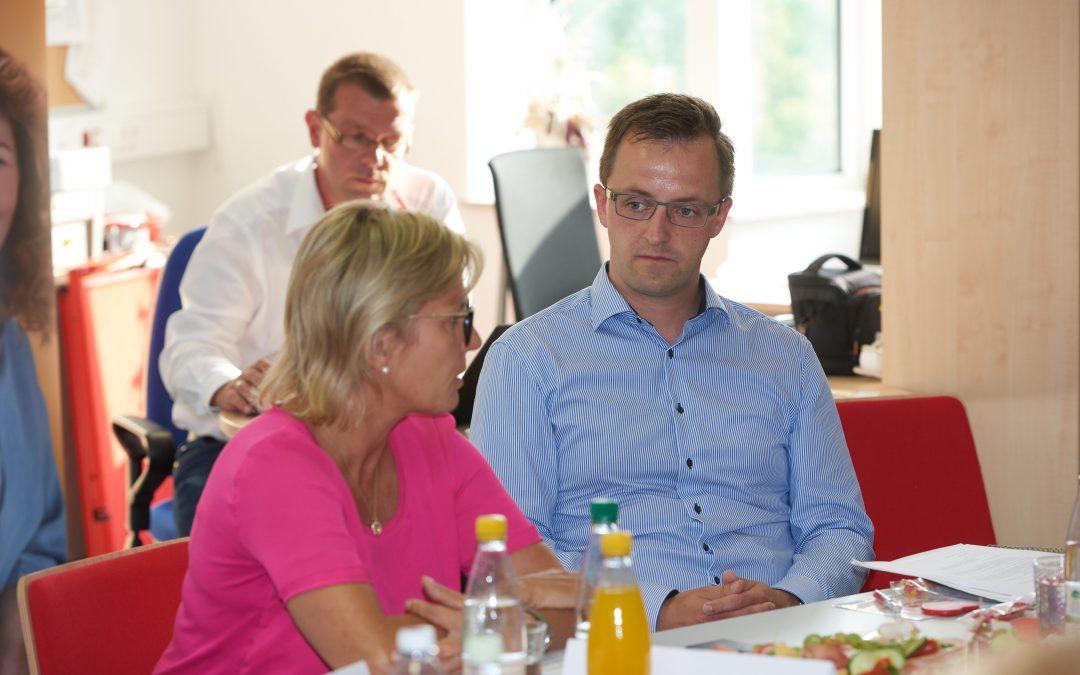 Im Gespräch mit Ärzten der Region und Ministerin Klepsch