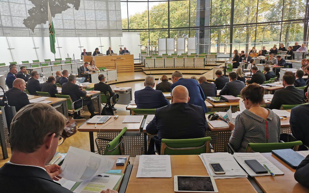 Erste Sitzung nach der Landtagswahl.