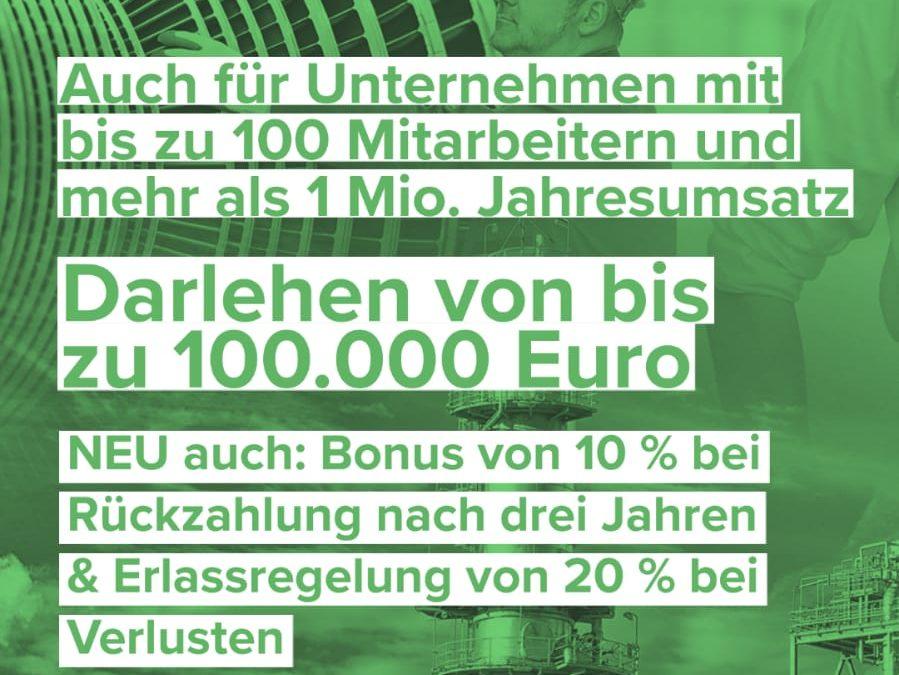 """Erweiterung der """"Soforthilfe für Sachsen""""!"""