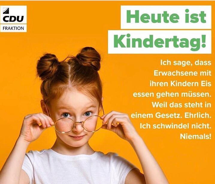 Kindertag heißt fröhlich sein!