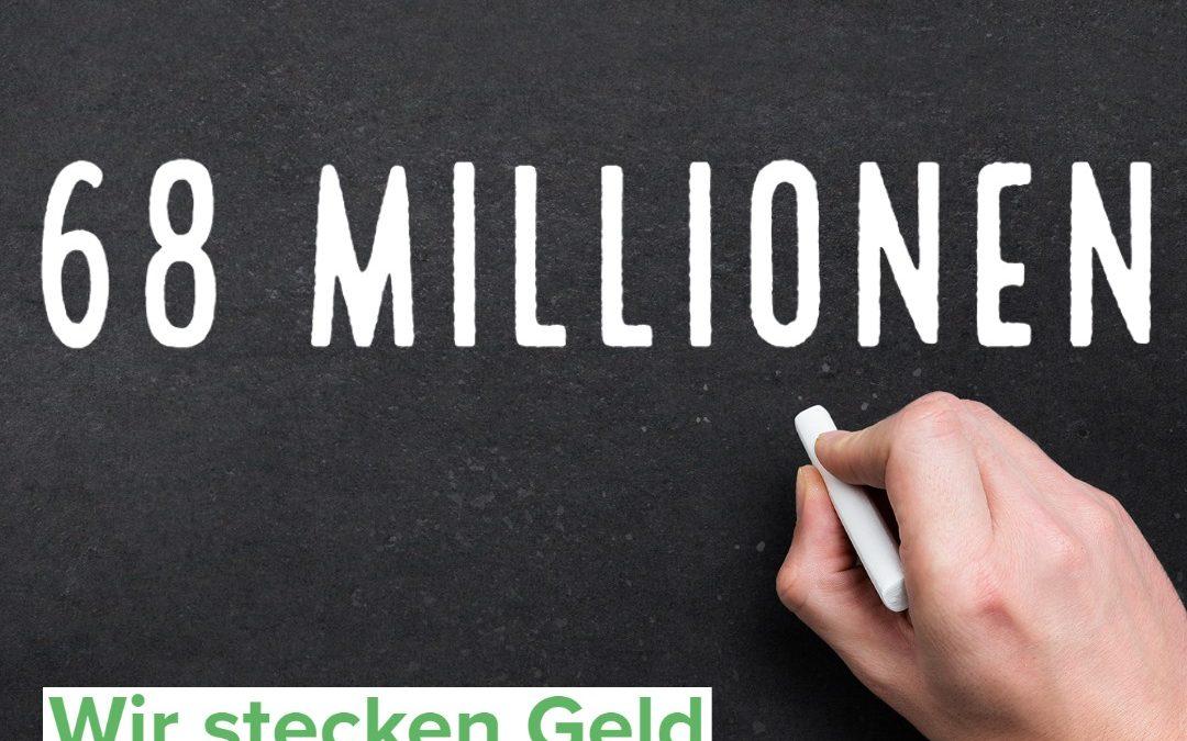 68 Millionen Euro für die Sächsischen Schulen