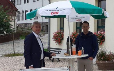 Infostand-Tour findet in Schneeberg ihren Abschluss