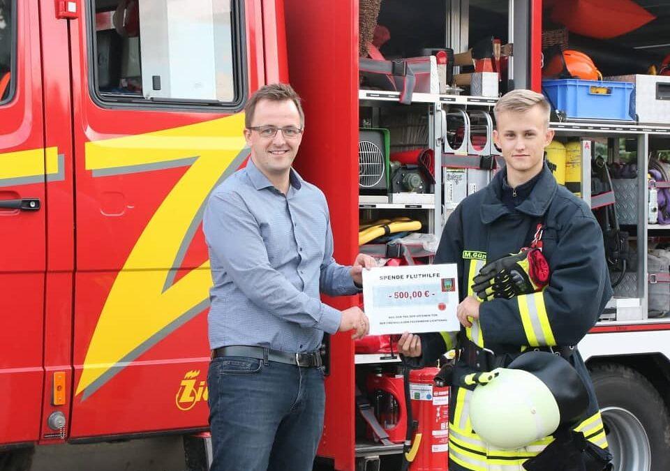 Feuerwehrleute in Lichtenau sammeln Spenden für Flutopfer