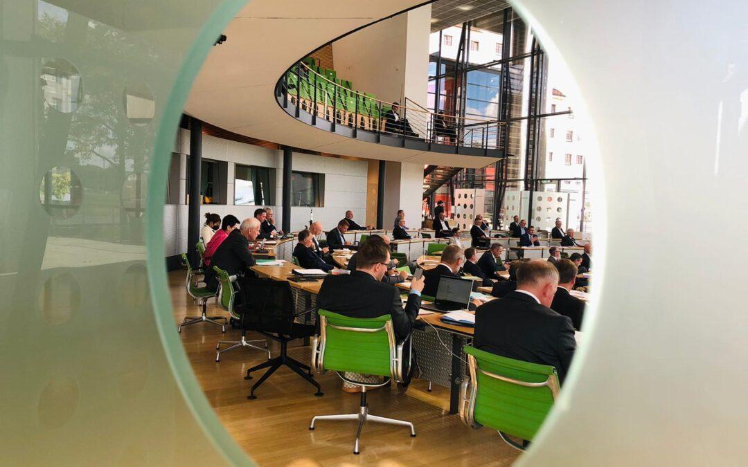 Plenartage im Landtag